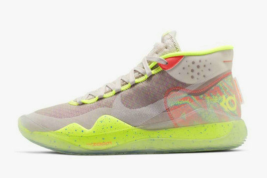 Where To Buy 2019 Nike KD 12 90s Kid Multi-Color White AR4229-900 For Sale