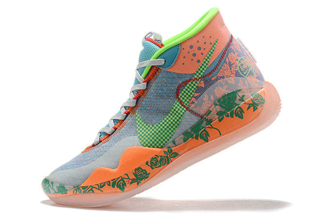 Where To Buy 2019 Nike KD 12 EYBL Grey Peach Crimson Blue Lime Green For Sale