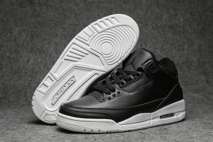 2019 Restock Cheap Nike Air Jordan 3 Leather Black White