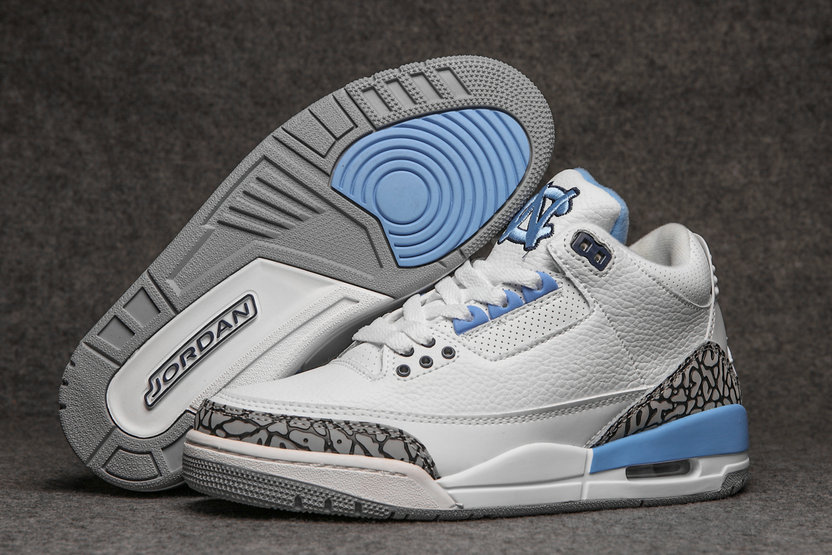 2019 Restock Cheap Nike Air Jordan 3 Light Blue White Grey