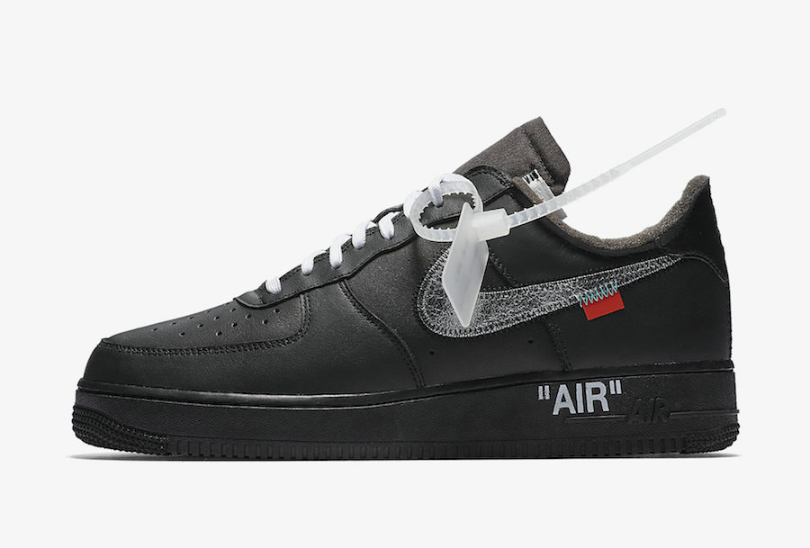 2019 Where To Buy Cheap MoMA x Off-White x Nike Air Force 1 07 Metallic Silver-Black AV5210-001