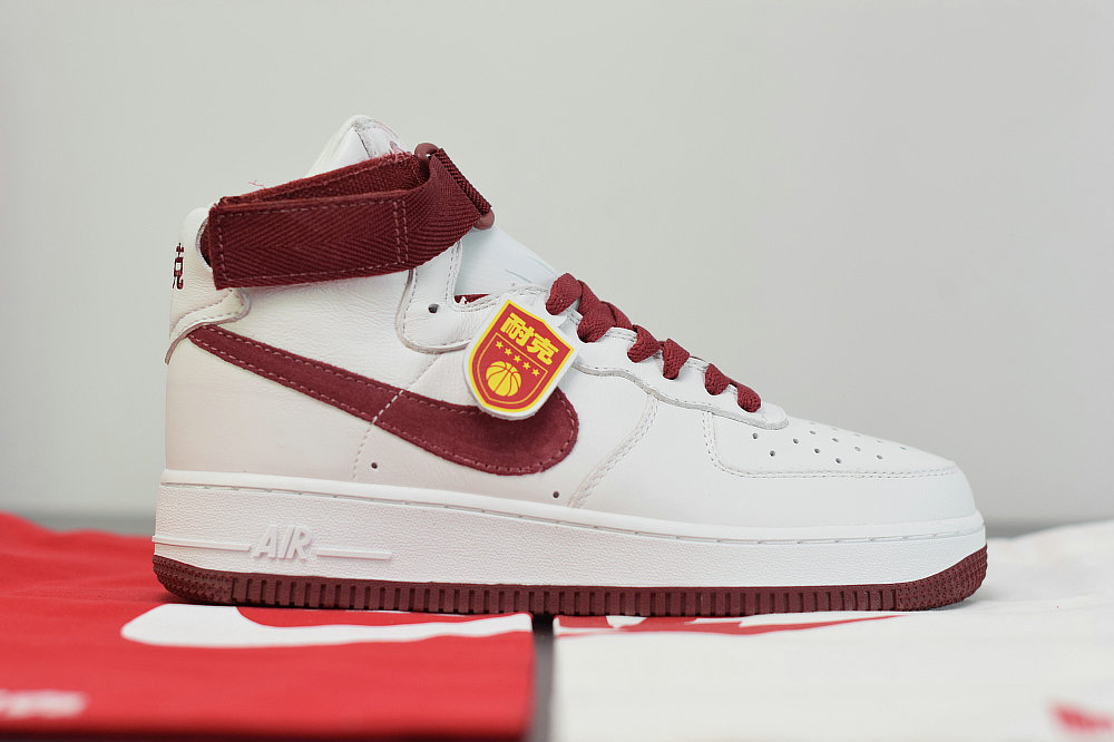 2019 Where To Buy Cheap Nike Air Force 1 High Summit White Team Red 743546-106