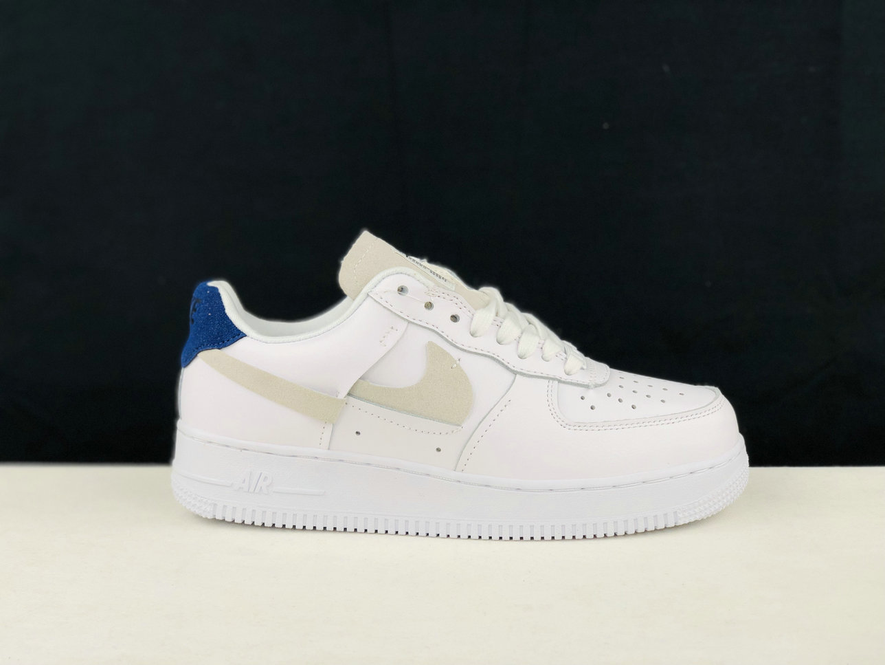 2019 Where To Buy Cheap Nike Air Force 1 Inside Out White Game Royal-Habanero Red-Platinum Tint 898889-103