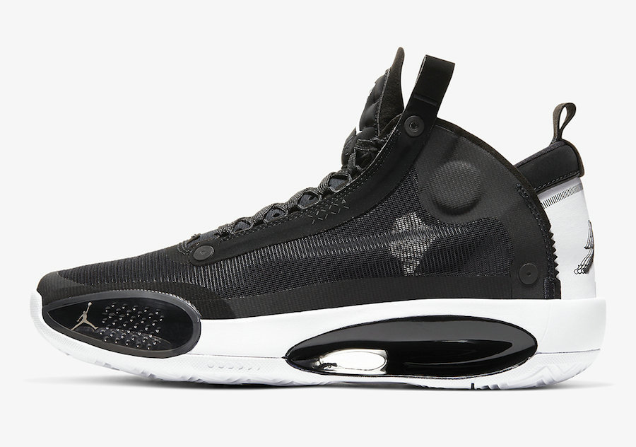 2019 Where To Buy Cheap Nike Air Jordan 34 Eclipse Black White AR3240-001
