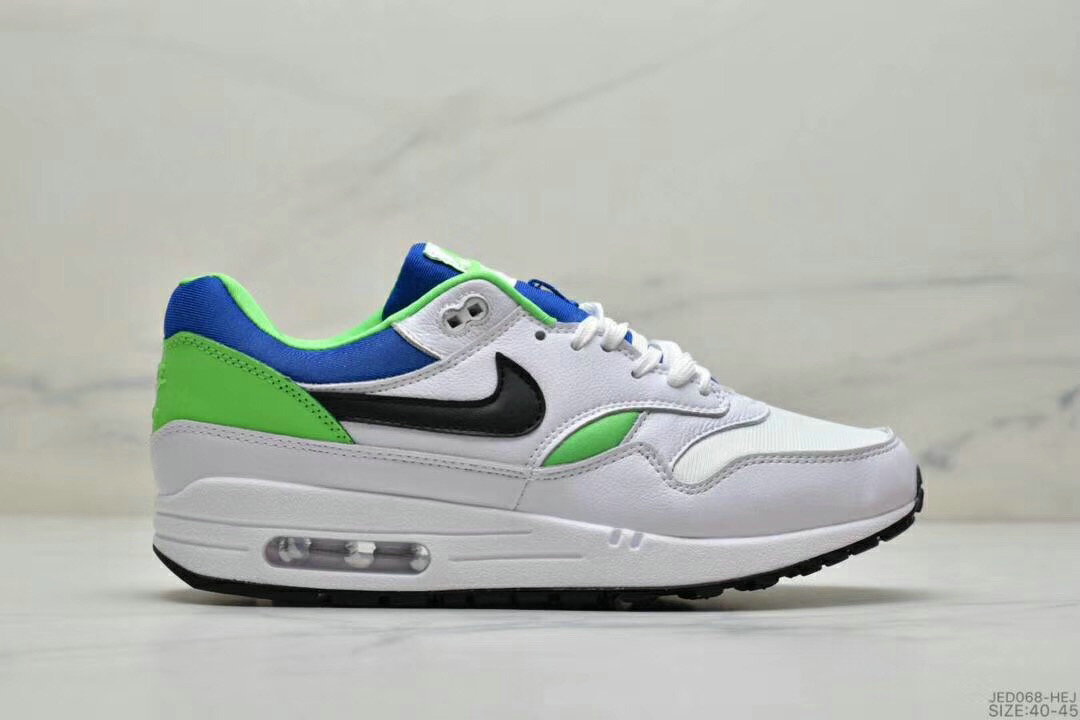 2019 Where To Buy Cheap Nike Air Max 1 87 Apple Green Blue Black White