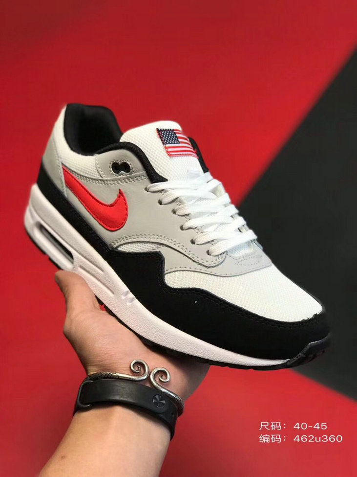 2019 Where To Buy Cheap Nike Air Max 1 87 Black Grey Red White