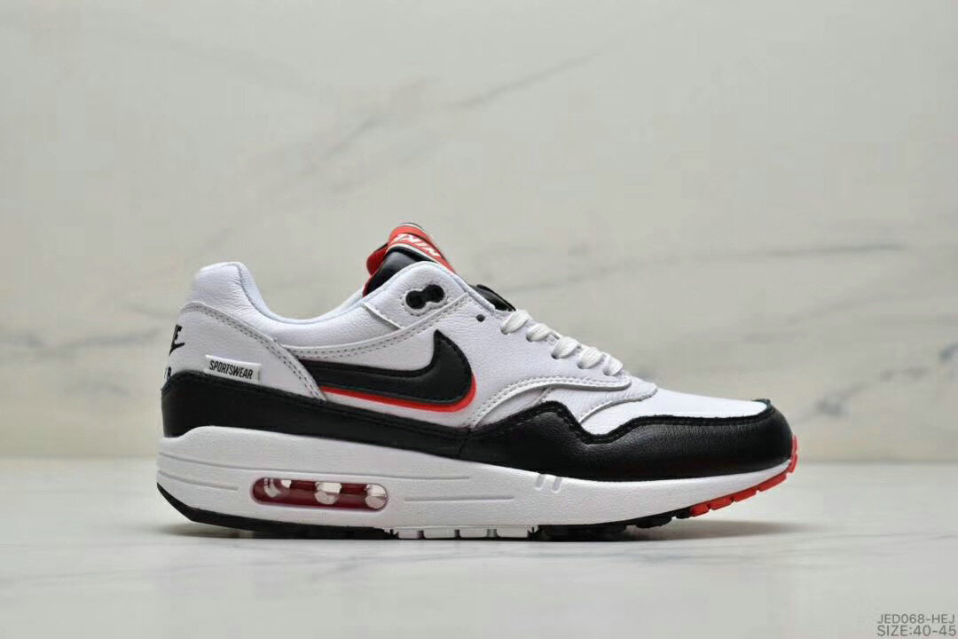 2019 Where To Buy Cheap Nike Air Max 1 87 Black Red White