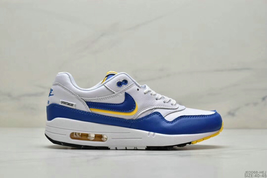 2019 Where To Buy Cheap Nike Air Max 1 87 Blue Yellow White