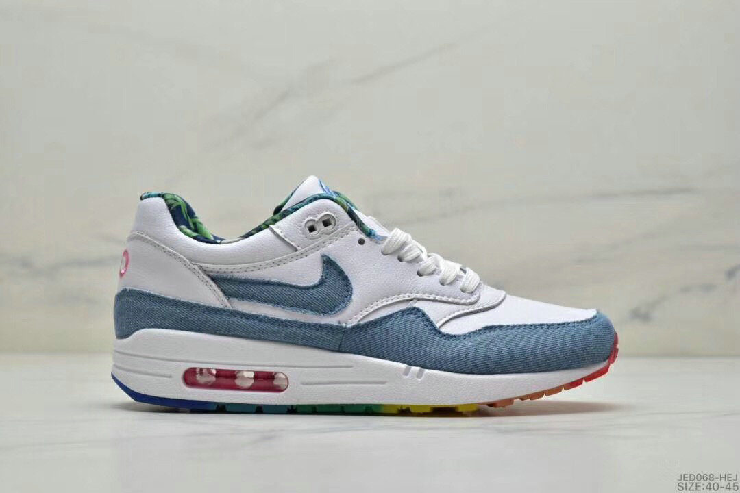 2019 Where To Buy Cheap Nike Air Max 1 87 Light Blue White