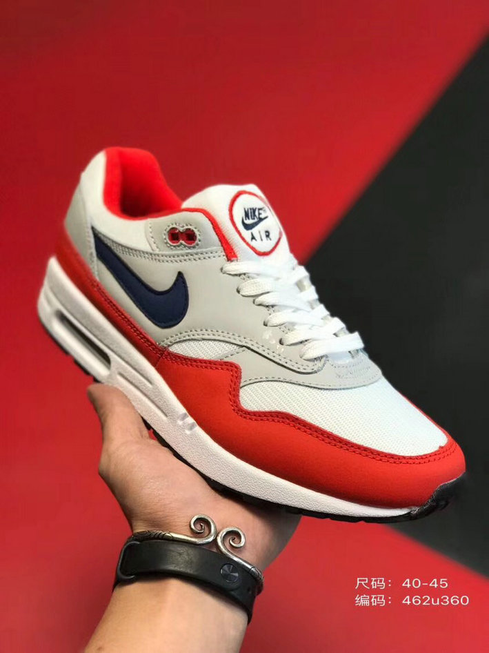 2019 Where To Buy Cheap Nike Air Max 1 87 University Red Black Grey White