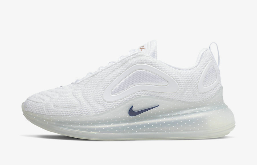 2019 Where To Buy Cheap Nike Air Max 720 White Midnight Navy-Metallic Red Bronze CI9097-100