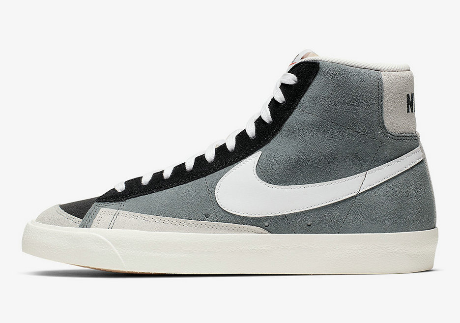2019 Where To Buy Cheap Nike Blazer Mid 77 Vintage Cool Grey Black Summit White CI1167-001