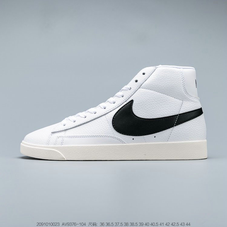 2019 Where To Buy Cheap Nike Blazer Mid VINTAGE SUEDE White Black Sail Blanc Voile Noir AV9376-104