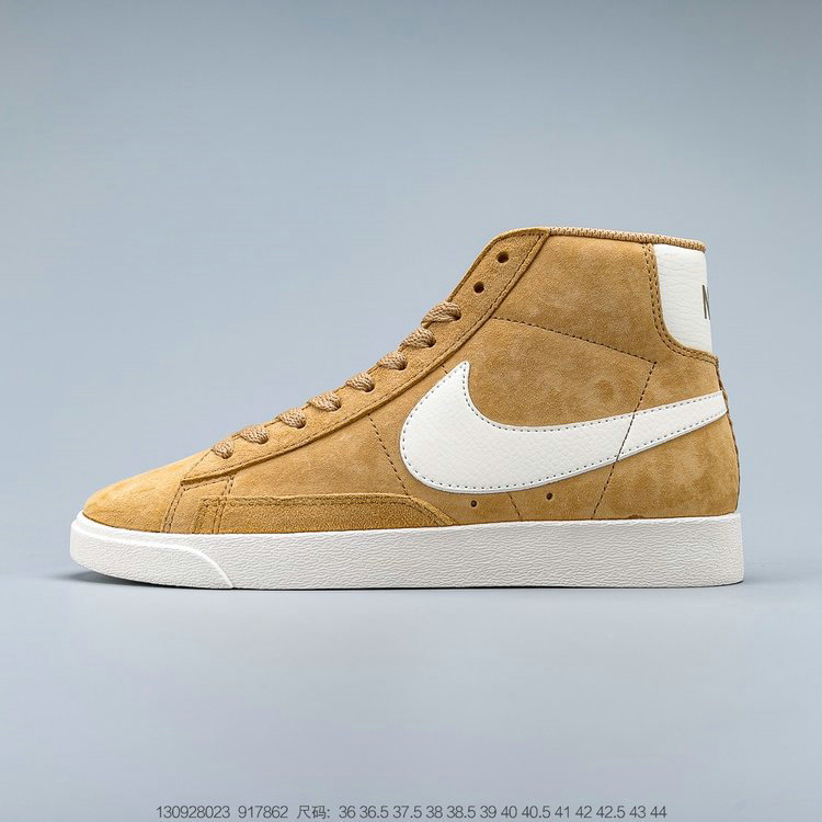 2019 Where To Buy Cheap Nike Blazer Mid VNTG Suede Vintage Wheat Brown Cream 917862-700