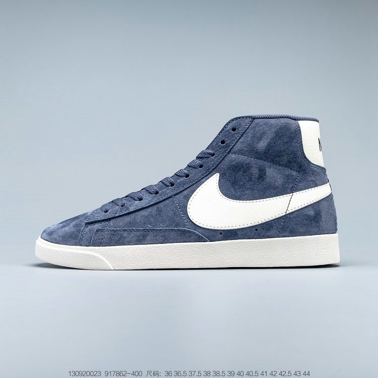 2019 Where To Buy Cheap Nike Blazer Mid Vintage Suede Diffused Blue Sail 917862-400
