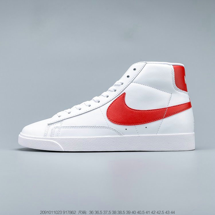 2019 Where To Buy Cheap Nike Blazer Mid Vintage Suede White Habanero Red 917862-109