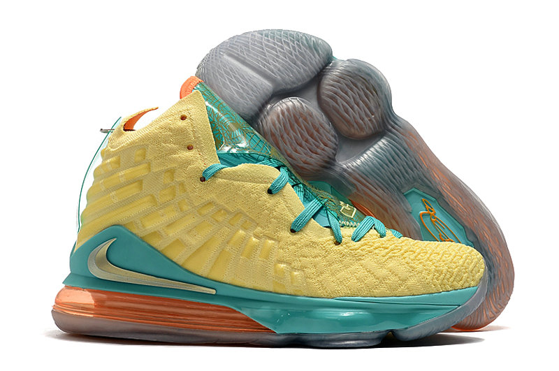 2019 Where To Buy Cheap Nike Lebron 17 Yellow Jade Green Orange