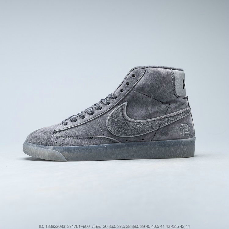2019 Where To Buy Cheap Reigning Champ x Nike SB Zoom Blazer Mid Dark Grey Black-Reflective 371761-900