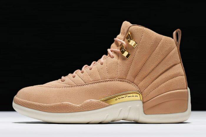 Where To Buy 2020 Air Jordan 12 GS Vachetta Tan Metallic Gold-Sail AO6068-203
