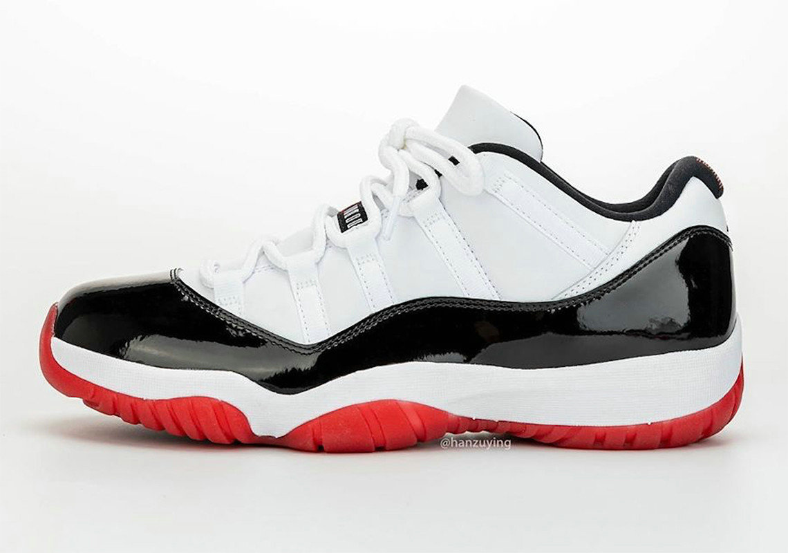 2020 Cheap Nike Air Jordan 11 Low Concord Bred White University Red-Black-True Red AV2187-160