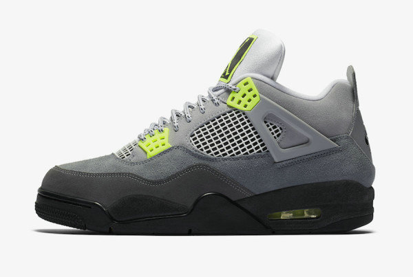 2020 Cheap Nike Air Jordan 4 Retro SE Neon Cool Grey Volt Wolf Grey Anthracite CT5342-007