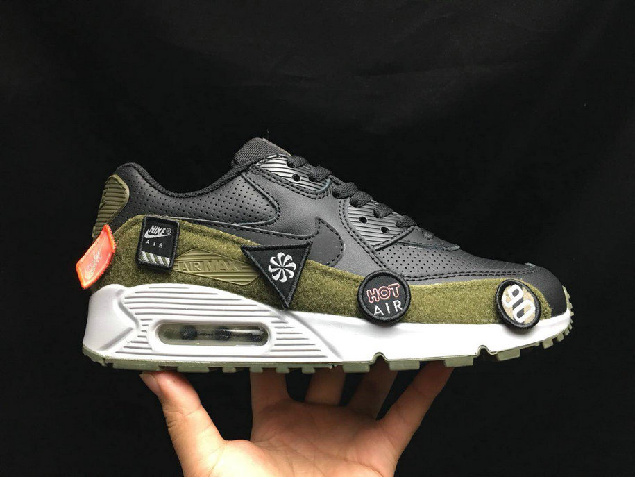 2020 Cheap Nike Air Max 90 Ultra 2. 0 LTR Black Olive Green White AA9974 002