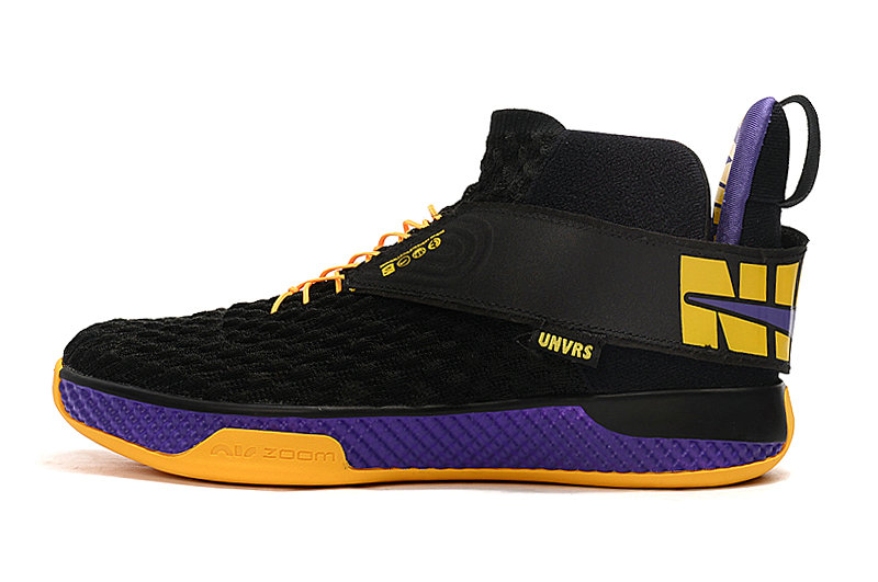 2020 Cheap Nike Air Zoom UNVRS Lakers Black Amarillo-Court Purple