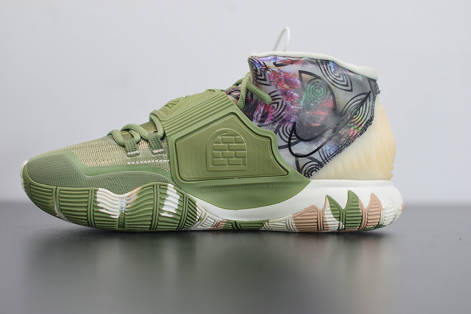 2020 Cheap Nike Kyrie 6 Greey Camo Alligator Multi-Color Couleur Multiple CQ7634-303