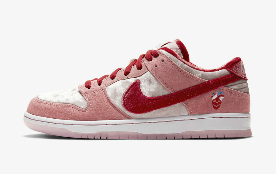 2020 Cheap Nike SB Dunk Low Valentines Day Bright Melon Gym Red Clair Rouge CT2552-800