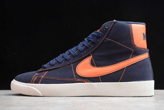 Where To Buy 2020 Mens Nike Mid QS HH Dark Blue Orange LJ6809-006A