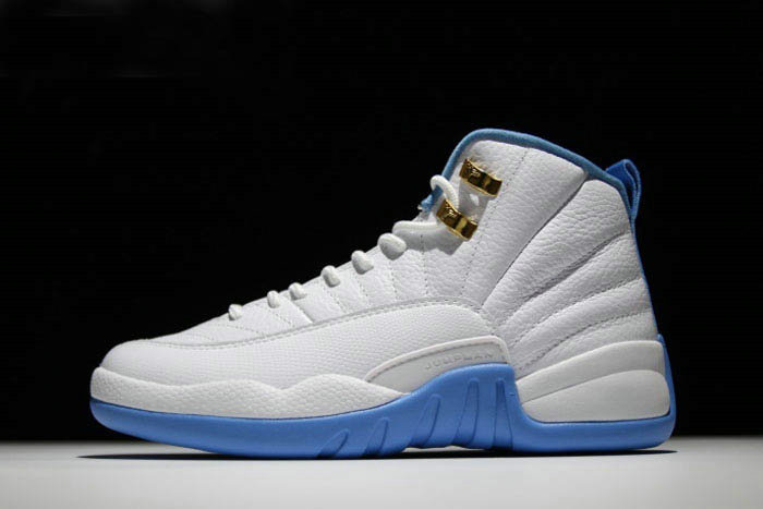 Where To Buy 2020 Mens and Womens Air Jordan 12 University Blue White Metallic Gold-University Blue 510815-127