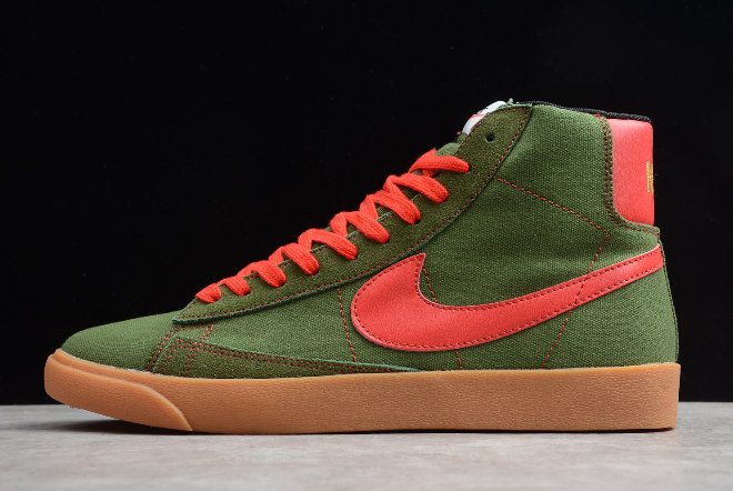 Where To Buy 2020 Nike Blazer Mid QS HH Army Green Net JL6806-400