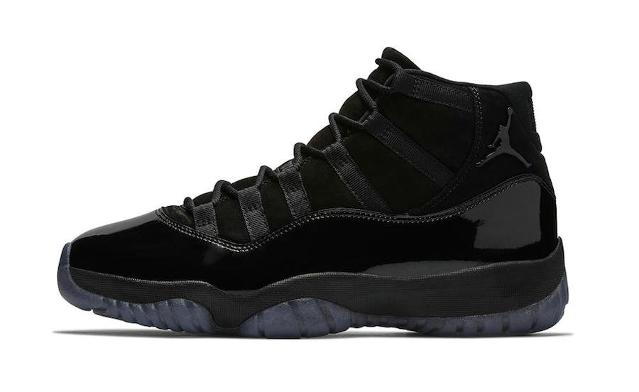 2021 Cheap Nike Air Jordan 11 Cap and Gown Black-Black-Black 378037-005