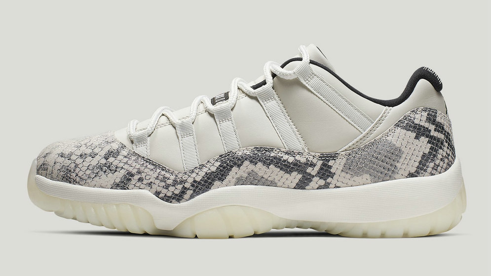 2021 Cheap Nike Air Jordan 11 Low SE Snakeskin Light Bone University Red-Sail-Black CD6846-002