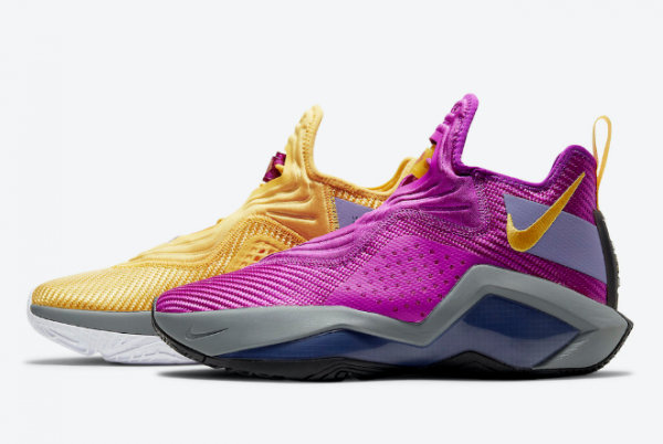2021 Cheap Nike Lebron Soldier 14 Lakers CK6047-500