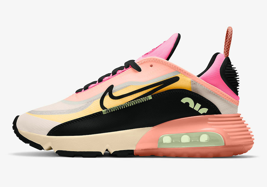 2021 Womens Cheap Nike Air Max 2090 Neon Highlighter Barely Volt Atomic Pink-Pink Glow-Black CT1290-700