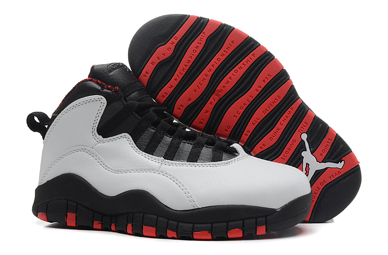 Air Jordan 10 (X) Retro Chicago White Varsity Red Black For Sale
