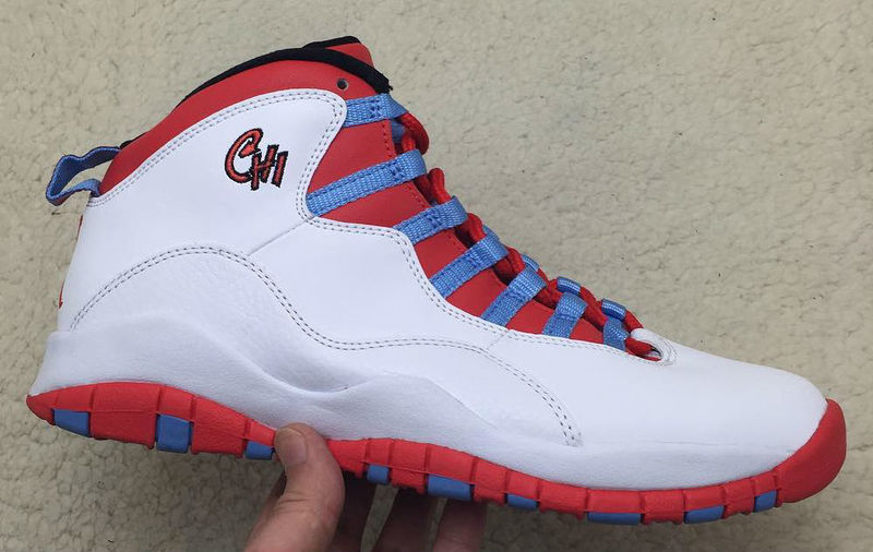 Air Jordan 10 Chicago Flag White Light Crimosn-University Blue-Black