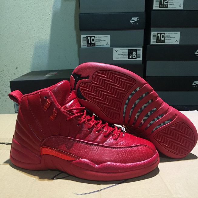 Cheap Air Jordan 12 Bulls Gym Red-Gym Red-Black 130690-601