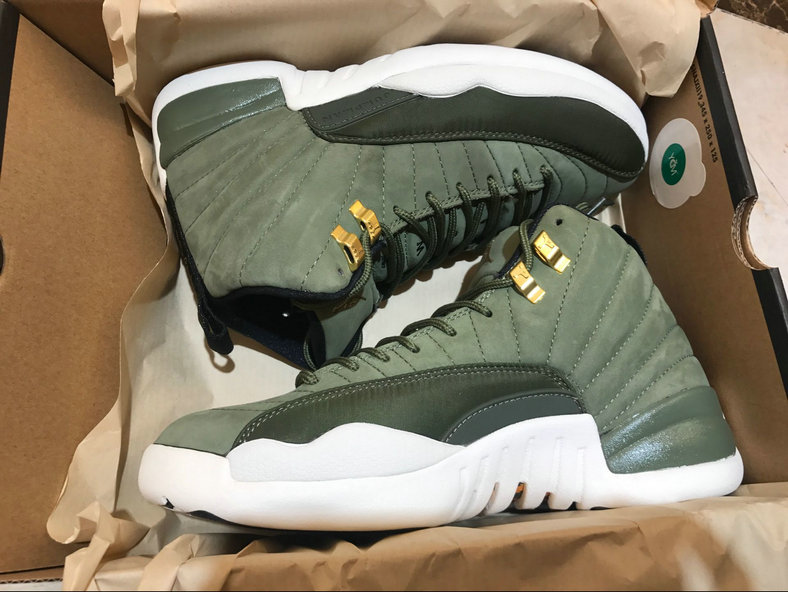 Air Jordan 12 Retro Olive Canvas Metallic Gold