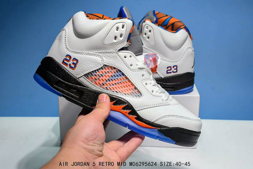 Air Jordan 5 Rtero Cheap Mid Orange Grey Black