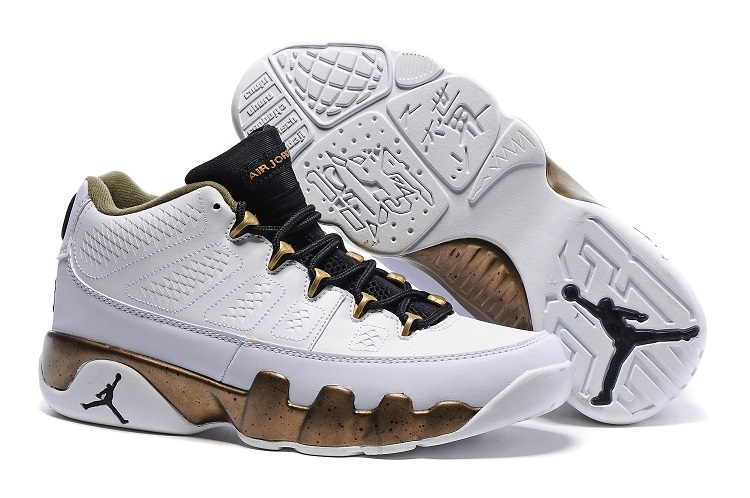 97245f968b0896 Air Jordan 9 Retro Low Copper Statue White Black-Militia Green For Sale.  Loading zoom