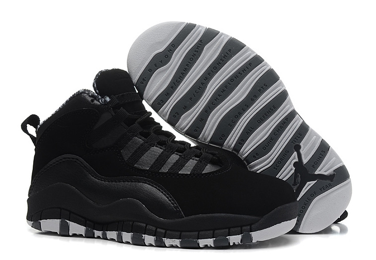 Air Jordans 10 Retro Black White-Stealth For Sale