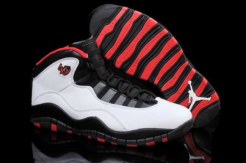 Air Jordans 10 Retro Chicago 45 PE White Varsity Red-Black For Sale