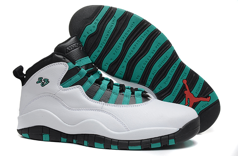 Air Jordans 10 Retro Verde White Verde-Black-Infrared 23 For Sale