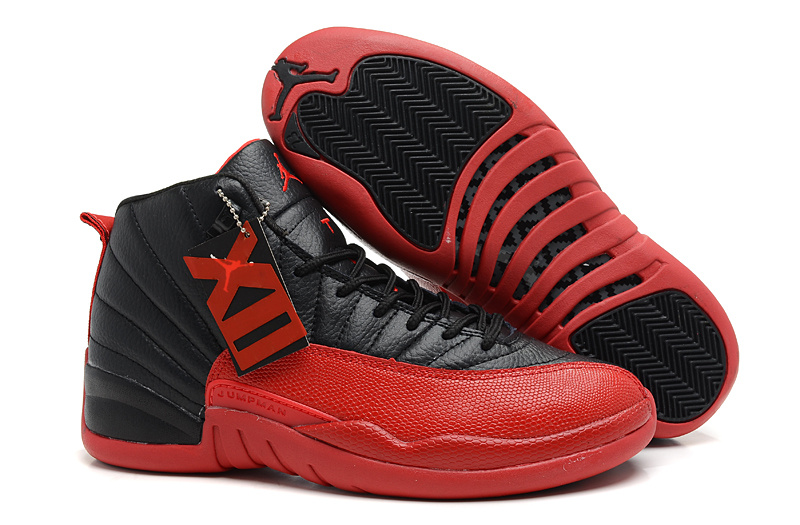 Air Jordans 12 Retro Flu Game Black Varsity Red For Sale