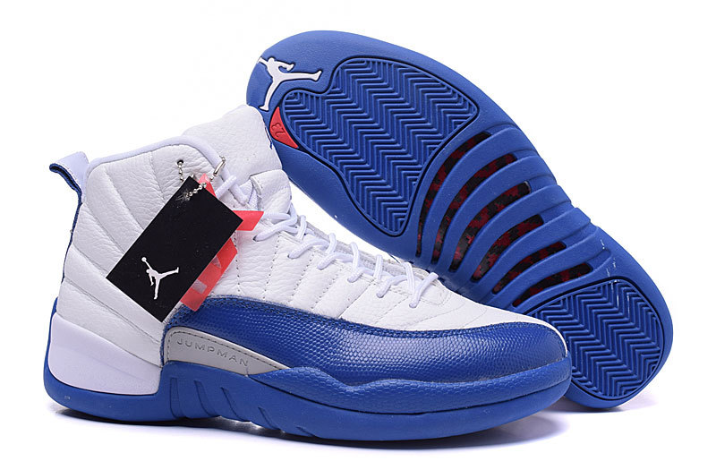Air Jordans 12 Retro French Blue White French Blue-Metallic Silver-Varsity Red