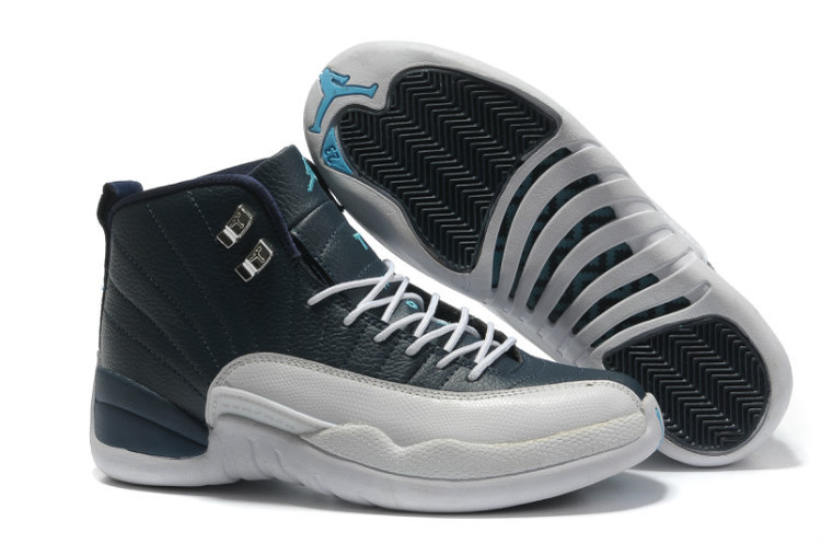 Air Jordans 12 Retro Obsidian White French Blue For Sale