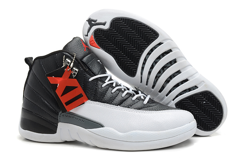 Air Jordans 12 Retro Playoffs Black White -Varsity Red For Sale