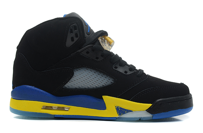 Air Jordans 5 Retro Shanghai Shen Black Varsity Maize-Varsity Royal-Black For Sale